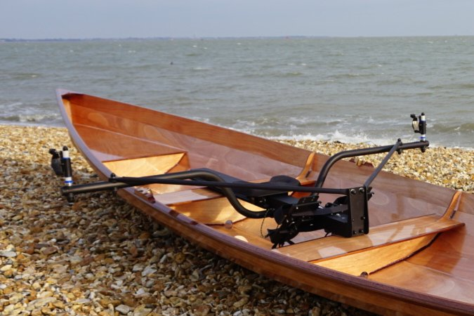 The Big River rowing frame fits most sculling boats at least 15 feet long